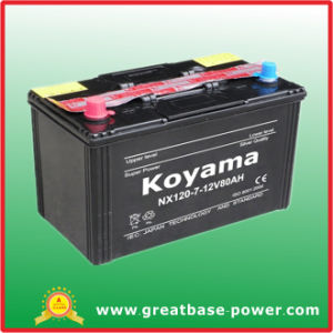 High Quality Dry Charge Car Battery Nx120-7 (80Ah 12V) pictures & photos