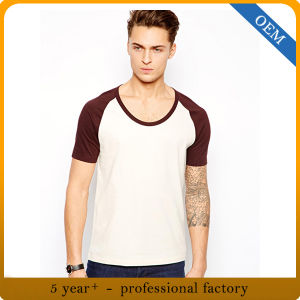 Wholesale Mens Blank Plain Raglan Sleeve T Shirts pictures & photos