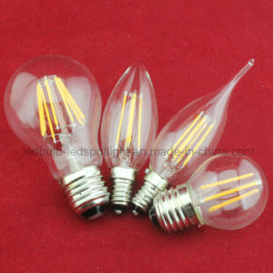 Hot Sell 8W 6W 4W 2W E27 E14 Filament LED Bulb Light (KZ-A60) pictures & photos