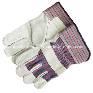 Full Palm Cow Leather Working Gloves pictures & photos