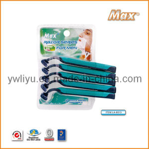 Triple Stainless Steel Blade Disposable Shaving Razor (LA-8013) pictures & photos