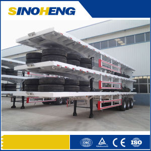 China Factory 60 Tons Tri-Axle Container Truck Semi Trailer pictures & photos
