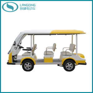 CE Electric Shuttle Bus Sightseeing Car with Gearbox 8 Seats (LQY081AN)