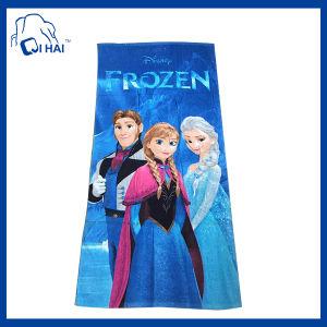 Cotton Printed Frozen Bath Towel (QHB3421)