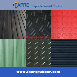 Broad Fine Ribbed/Checker Runner/Coin Pattern/Corrugated/Diamond Thread Pattern Rubber Mat Sheet Roll Floor for Workshop and Car pictures & photos