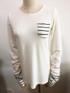 Women Fashion Clothing Loose Oversize Long Sleeve T-Shirt pictures & photos