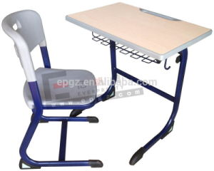 Guangzhou School Funriture Student Calssroom Study Desk with Chair (SF-32F) pictures & photos