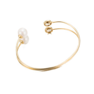 Western Style Fashion jewellery New Design Brass Bangle Crystal and Pearl Bangle pictures & photos