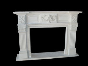 White Marble Line Fireplace (FRP505) pictures & photos