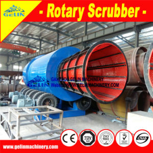 Mobile Mining Rotary Drum Scrubber Washing Machine for Ghana Alluvial Gold Project pictures & photos