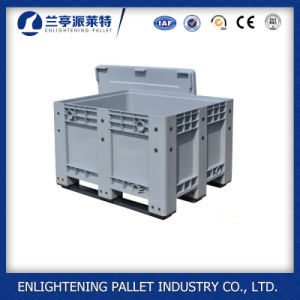 Blue Plastic Pallet Box Logistic Container pictures & photos