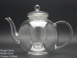 1000ml Heat Resistant Glass Teapot with Infuser Coffee Tea Leaf Herbal (made of borosilicate glass 3.3) pictures & photos