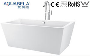 Wide Rim Acrylic Bathtub Jacuzzi Bath Whirlpool Bathtub (JL604) pictures & photos