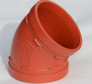 UL Listed & FM Approved 45 Degree Grooved Elbow pictures & photos