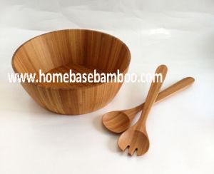 Nice Cheap Bamboo Salad Bowl & Server pictures & photos