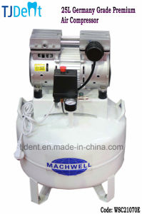 Germany Grade Premium Quality Oilless & Noiseless 25L Dental Air Compressor (WSC21070E) pictures & photos