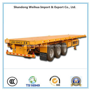 3 Axles Flatbed Container Trailer From China Manufacturer pictures & photos