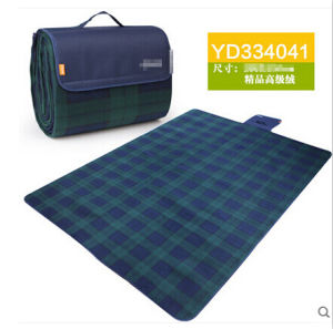 Blue-Green Plaid Microfiber Picnic Blanket pictures & photos