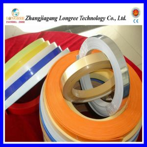 High Glossy PVC Edge Banding Extrusion Line, Wood Grain Edge Banding Machine and Solid Color Edge Banding Production Line pictures & photos