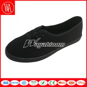 Leisure Flat Plain Wen′s Canvas Casual Shoes pictures & photos
