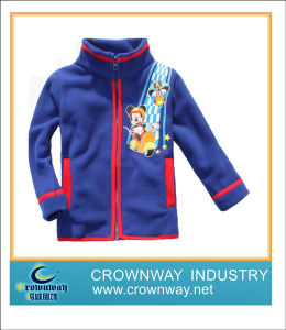 Full Zip Blue Fleece Jacket for Children (CW-KIDS-FJ3) pictures & photos