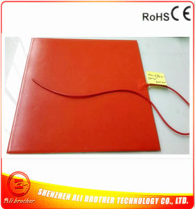 110V 1000W 550*550*1.5mm Silicone Rubber Heater for 3D Printer pictures & photos