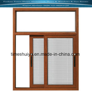Aluminium Window with Louver and Toughened Glass (Heat Insulation) pictures & photos