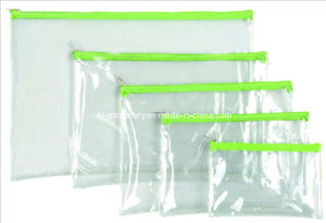 PVC Plastic Stationery Bag/Document Bag (V7102) pictures & photos