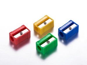 Student Cheap Plastic Pencil Sharpener pictures & photos