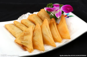 IQF Frozen Tsing Tao Curry Powder Vegetable Frozen 12.5g/piece X 102pieces Spring Rolls pictures & photos