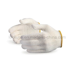 10 Gauge Bleach Color Working Cotton Glove (JF-CT010)
