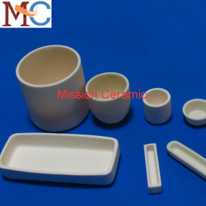 High Refractoriness Cylindrical and Conical Type Alumina Ceramic Crucible /Tray pictures & photos