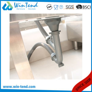 Newly Design Stainless Steel Double Mop Sink with Faucet pictures & photos