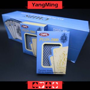 100% Plastic Poker Casino Playing Cards Japan Import PVC Red and Blue 2 Color Can Be Choice (YM-PC10) pictures & photos