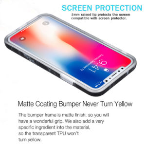 Shockpoof Marble Phone Case for iPhone X Case, Marble IMD Design Slim Smooth PC Back Cover TPU Bumper Case for iPhone X pictures & photos