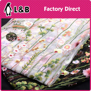 New Fashion Embroidery Tulle Lace Fabric pictures & photos