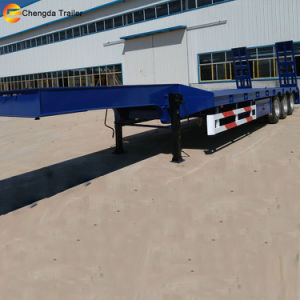 3 Axle 60tons Lowboy Gooseneck Low Bed Trailer for Sale pictures & photos