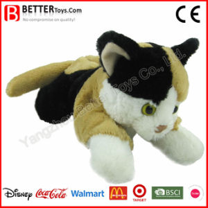 ASTM Stuffed Animal Lifelike Soft Toys Plush Balck Cat pictures & photos
