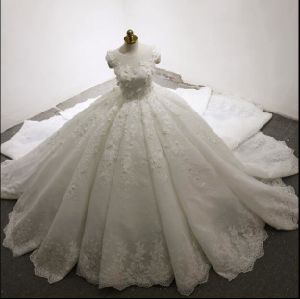 Jewelry Bridal Ball Gowns Lace Flowers Real Wedding Dresses Z18019 pictures & photos