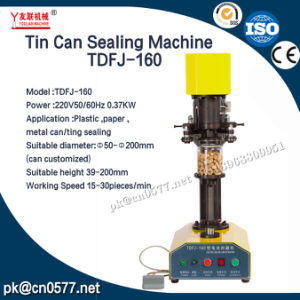 Canning Machine Tin Can Sealing Machine for Chill Sauce Tdfj-160 pictures & photos