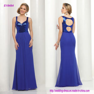 Demure in The Front and Flirty in The Back Chiffon Prom Dress with a Modified Sweetheart Neckline and a Daring Double Keyhole Back pictures & photos