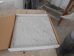 Hot Solid Surface Bianco Carrara White Marble Kitchen Countertop pictures & photos
