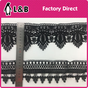 Black High Quality Embroidery Polyester Lace pictures & photos