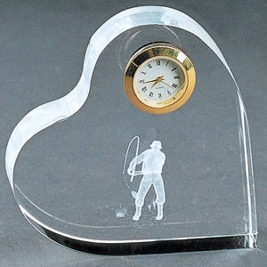 Custom Unique Crystal Glass Clock for Decoration Gift pictures & photos