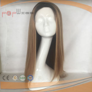 Skin Top Human Hair Omber Color Wig (PPG-l-0763) pictures & photos