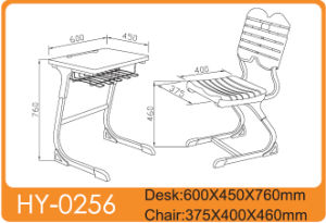 Plastic Chair with Wooden Desk Top of Chidren Furniture pictures & photos