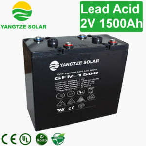 Lead Acid 2V 1500ah Solar Battery Storage pictures & photos