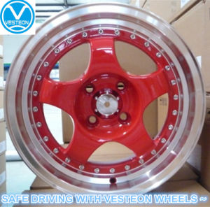 Famous Racing Alloy Wheels Red Machined Lip Color pictures & photos