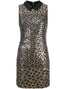 Golden Foil Jacquard Leopard Dress pictures & photos