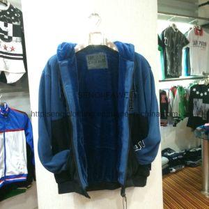 Hot Sale Men′s Zip-up Fleece Coat Clothes with Hood Fw-8618 pictures & photos